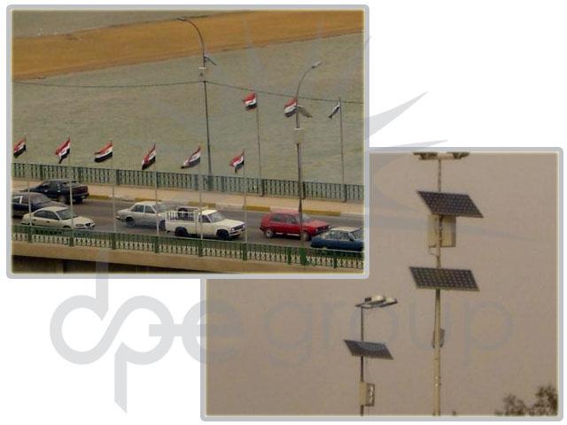Irak Solar Cadde Aydınlatma